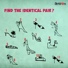 Let's see how quick you guys are! Can you find the identical pairs?