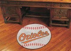 """MLB - Baltimore Orioles Baseball Mat 27"""" diameter"""