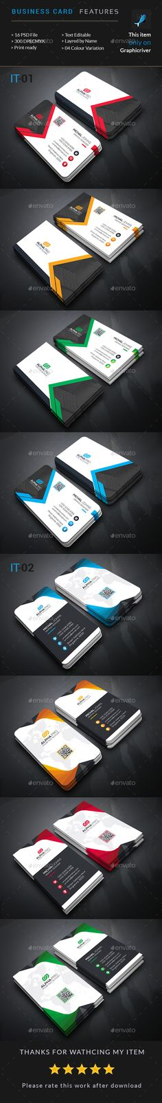 Corporate Business Card Templates PSD Bundle. Download here: https://graphicriver.net/item/corporate-business-card-bundle-2-in-1/17463896?ref=ksioks