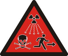 Here's a genuinely scary one: This is the IAEA ionizing radiation warning symbol (ISO 21482). Place This at your party.