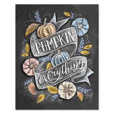 Pumpkin Everything - Print & Canvas