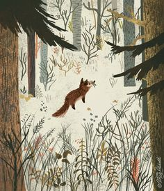 """Fox In Snow"" by Greg Abbott                                                                                                                                                                                 More"