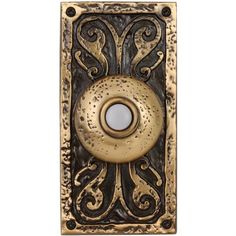 Burnished Brass Doorbell  Button with LED