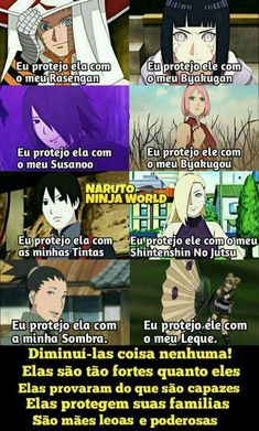 """Eles sabem do valor delas, elas sabem do próprio valor, Kishimoto e Ikemoto também... não me importa o que pensar os """"fãs"""" revoltadinhos... Naruto Kakashi, Anime Naruto, Naruto Himawari, Hinata Hyuga, Manga Anime, Naruto Meme, Sasunaru, Shikatema, Naruhina"""