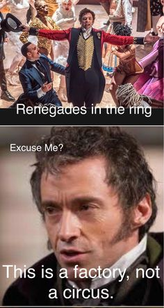 OH MY WORD! Whoever noticed this is a genius! - Genius Meme - OH MY WORD! Whoever noticed this is a genius! The post OH MY WORD! Whoever noticed this is a genius! appeared first on Gag Dad. Theatre Nerds, Musical Theatre, The Greatest Showman, Hugh Jackman, Hilarious, Funny, Great Movies, Movies And Tv Shows, Laughter