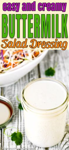Buttermilk Salad Dressing Recipe Buttermilk Salad Dressing Salad Dressing Tasty Dishes