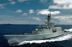 Canadian guided missile destroyer HMCS Algonquin