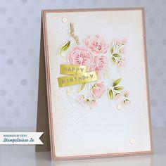Stampin' Up! - Video - Tutorial - Aquarell - Write Marker - Cherry Blossom - Kirschblüte - Geburtstagskarte - Birthday Card ❤ Stempelwiese