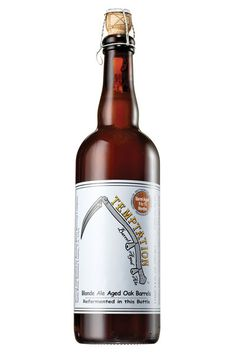 Temptation Ale, Russian River Brewing Co. Blonde ale aged for 9 to 15 months in Chardonnay barrels for a tart, medium-bodied brew.