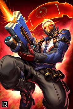 Blizzard,Blizzard Entertainment,фэндомы,Soldier 76,Overwatch,Overwatch art,Quirkilicious