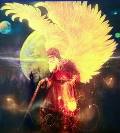 "Archangel Raziel's name means ""Secrets of God"".He is the wizard and alchemist of the archangel realm. Raziel will help you understand esoteric spiritual ideas and apply them in practical ways; he will open the doors of opportunity for you and speed you along the path of manifestation. Call Archangel Raziel to help you find the richness that comes from meditation and spending time alone in contemplation.  Image from: Doreen Virtue & Radleigh Valentine Angel Tarot"
