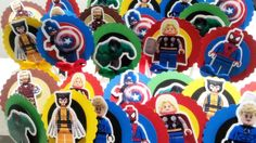 Lego Avengers - Topper para doces | Dona Lelê | Elo7