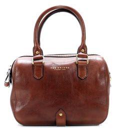 Basic Handtasche Leder braun 25 cm