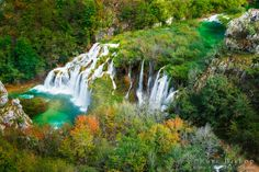 Travertine cascades on the Korana River, Plitvice Lakes National Park, Croatia / © Russ Bishop ~ Click image to purchase a print or license