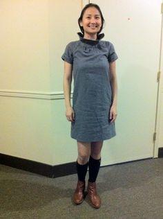 dress- k spade, knee-high socks-target and boots-madewell#katespade#madewell#target#falloufit#ootd
