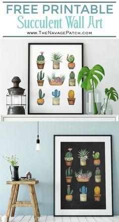 Free Printable Succulent Monogram Wall Art | Beautiful Free Succulent Initials Wall Art |  #farmhouse #TheNavagePatch #decor #easyDIY #WallDecor