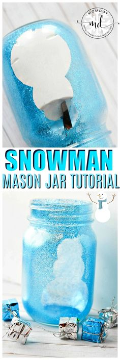 Snowman Mason Jar Crafts are a great way to liven up your table with gorgeous glittery mason jars that you personally made. Whether its one snowman jar or a whole blizzard full, you cannot go wrong with this tutorial on how to make a snowman mason jar. Mason Jar Snowman, Christmas Mason Jars, Christmas Love, Christmas Crafts, Christmas Ideas, Christmas Recipes, Holiday Ideas, Christmas Decorations, Mason Jar Gifts