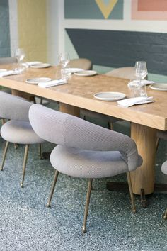 Terrazzo Flooring - Bring the old days memory into this modern era @ the avalon hotel in beverly hills