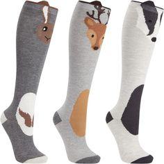 John Lewis Novelty Animal Knee Socks, Pack of 3, Multi (€17) ❤ liked on Polyvore featuring intimates, hosiery, socks, john lewis hosiery, animal socks, knee length socks, knee high hosiery and animal print socks