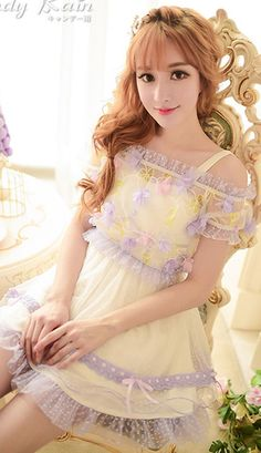 Japanese sweet lilac flowers two-piece dress