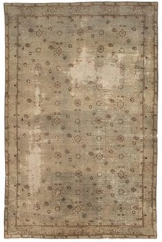 Oushak Angora Rug Number 13762, Antique Oushak Rugs (Turkish) | Woven Accents