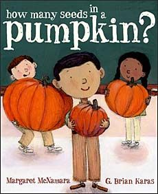 How Many Seeds in a Pumpkin -- a fun picture book for teaching estimation