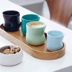 Use the Mano cups for latte or espresso
