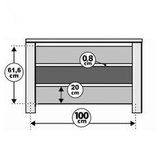 Radiatorbekleding Mix & Match taupe 100 x 20