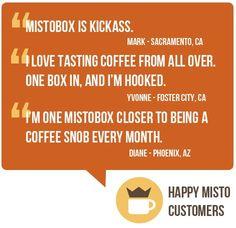 Artisan Coffee Sample Subscription & Coffee Online Shop - MistoBox - gift idea