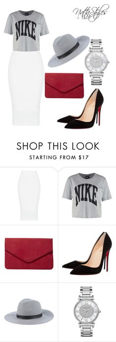 """look of the night"" by nattaca on Polyvore featuring NIKE, Dorothy Perkins, Christian Louboutin, ..,MERCI, Michael Kors, christianlouboutin, nike and michealkors"