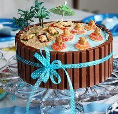 Easy Cake Decorating Ideas That Require NO Skill! Easy Cake Decorating Ideas That Require NO Skill! Keto Desserts, Dessert Recipes, Picnic Recipes, Baking Desserts, Health Desserts, Beach Cakes, Beach Theme Cakes, Beach Themed Desserts, Beach Party Decor