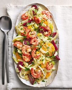 Fennel Recipes, Prawn Recipes, Seafood Recipes, Appetizer Recipes, Beetroot Recipes, Salad Recipes, Fennel And Orange Salad, Fennel Salad, Going Vegetarian