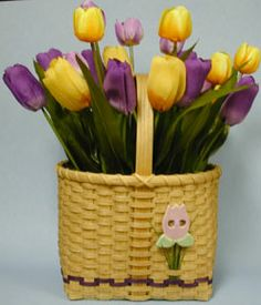 Spring Tulips Basket Pattern