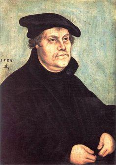 Portrait of Martin Luther, 1543, Lucas Cranach the Elder