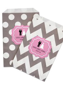 Personalized Wedding Shower Goodie Bags Set of 12, Style EB2358WS #davidsbridal #bridalshower #favors