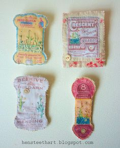 embroidered thread cards by 'hens teeth'