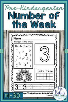 Number Sense Morning Work Pre-Kindergarten Math Numbers Number of the Week Numbers Kindergarten, Numbers Preschool, Kindergarten Lesson Plans, Kindergarten Lessons, Learning Numbers, Math Numbers, Preschool Math, Math Activities, Math Games