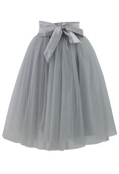 Amore Tulle Skirt in Grey - Retro, Indie and Unique Fashion