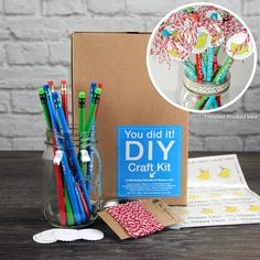 SRM Press Inc. - DIY Craft Kit - Birthday Pencils in Mason Jar at Scrapbook.com
