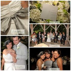 LPV Wedding: Brittany & Braulio with a neutral grey wedding theme. Oh and mustaches too!