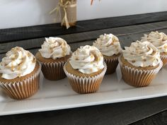 Spiced Caramel cupcakes with apple filling, topped with cream cheese buttercream, caramel drizzle and a light dusting of cinnamon. Caramel Apple Cupcakes, Caramel Apples, Cream Cheese Buttercream, Baking Company, Apple Filling, Sugar Rush, Mini Cupcakes, Cinnamon, Spices
