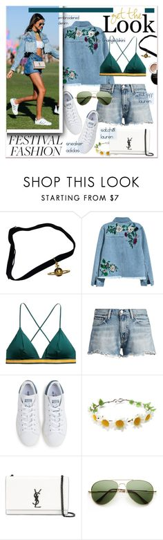 """""""#festivalfashion"""" by stylemeup-649 ❤ liked on Polyvore featuring Vivienne Westwood, H&M, Ralph Lauren, adidas, Yves Saint Laurent, ZeroUV and Bobbi Brown Cosmetics"""