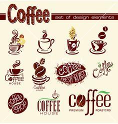 Coffee elements for design vector - by vectorinka on VectorStock®