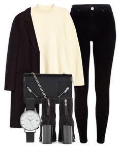 """""""Untitled #6046"""" by laurenmboot ❤ liked on Polyvore featuring River Island, H&M, Zara, Yves Saint Laurent, rag & bone and Olivia Burton"""