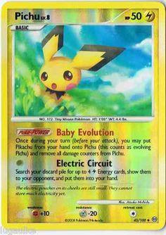 Pokemon Card Stormfront Reverse Holo Uncommon Pichu 45/100