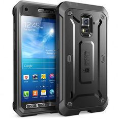 Samsung Galaxy S5 Active Unicorn Beetle Pro Full Body Rugged Case with Screen Protector-Black/Black