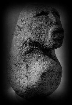 Sculpture from the 'sanctuary under the rocks', 6500-5500 BC (Lepenski Vir, Serbia)