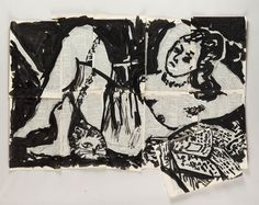 William Kentridge, 'Drawing for 'Lulu',' 2014, Marian Goodman Gallery