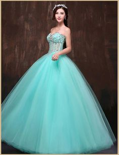 Strapless Corset Beaded Ball Gown