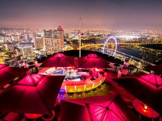 Cé La Vi(formerly called Ku Dé Ta) is a premier rooftop party bar — emphasis on the rooftop, as it sits on the 57th floor of the Marina Bay Sands, an architectural landmark in Singapore. Part of the spectacular SkyPark, the bar lets guests take in...
